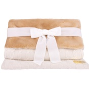 Chihuy - Dog Bed Sleep Sack in White Braided Cashmere
