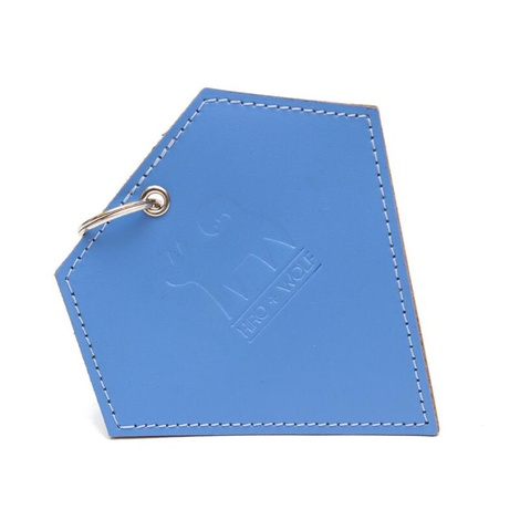 Leather Diamond Poo Pouch – Botanical Blue