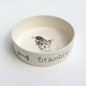 Purple Glaze Pottery - Large Personalised Dog Bowl
