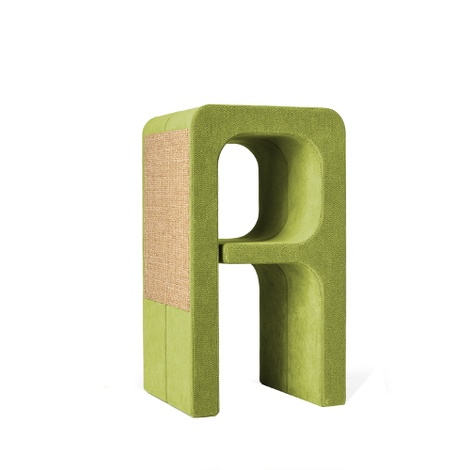 Scratching Post - Letter A - Green