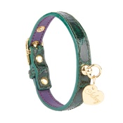 Chihuy - Dog Collar in Emerald Green Calfskin Leather