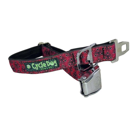 Tri-Style Red Dog Collar