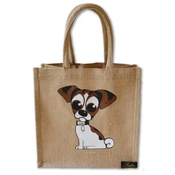 Poochini Pets - Midi Jack Russell Bag - Natural