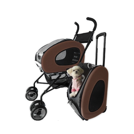 Chocolate 5-in-1 Pet Buggy