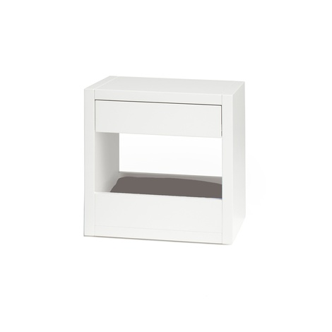 Bloq Pet Bed & Side Table - White 7