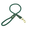 Cecily Rope & Leather Dog Lead – Green