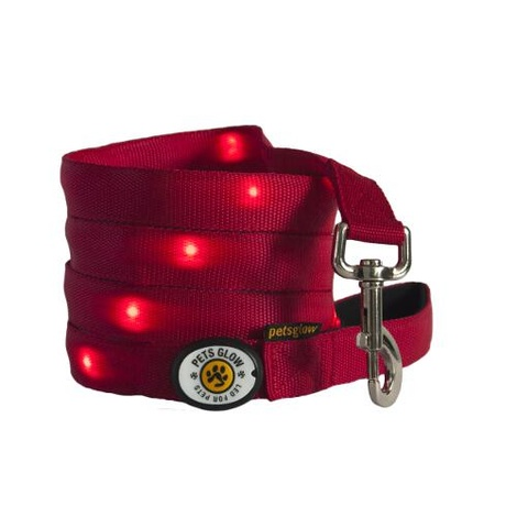 Outshined LED Dog Lead - Red