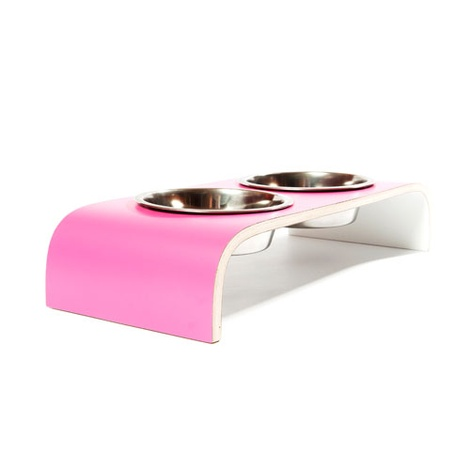 White Gloss Raised Pet Bowl