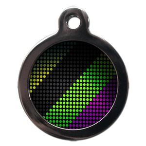 Disco Patterned Pet ID Tag