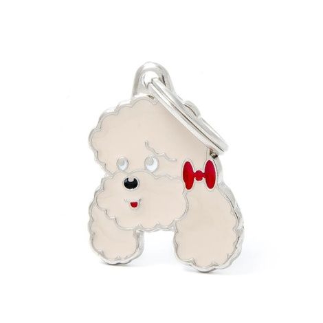 Poodle Engraved ID Tag – Apricot