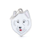 My Family - Samoyed Engraved ID Tag