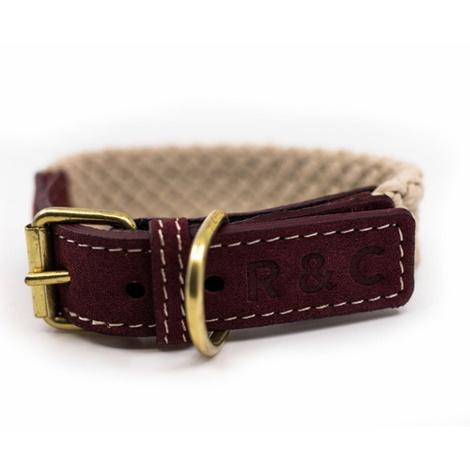 Rope collar (flat) - Burgundy