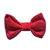 Dapper Pets - Fuchsia Velvet Dog Bow Tie
