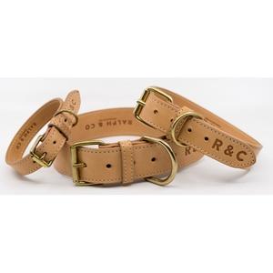 Leather Dog Collar (Trieste) - Light Tan