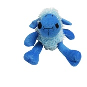Hem & Boo - Plush Curly Lamb Puppy Squeaky Toy - Blue