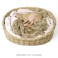 Greywash Oval Rattan Basket  5