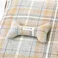 Sand Shetland Wool Luxury Lounging Dog Bed Cushion 2