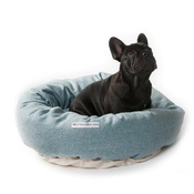 Mutts & Hounds - Teal Tweed Donut Bed
