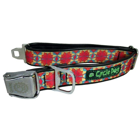 Kaleidoscope Red Orange Dog Collar