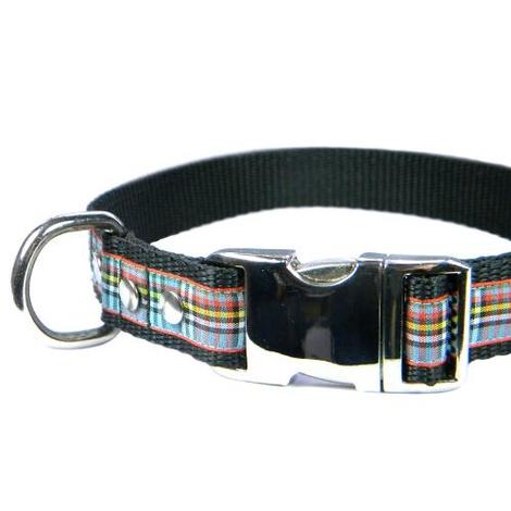 Scottish Anderson Tartan Dog Collar – Black 3