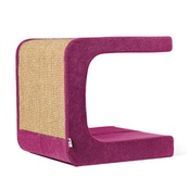 Catworks - Scratching Post - Letter C - Pink