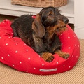 Cranberry Star Cotton Donut Bed 5