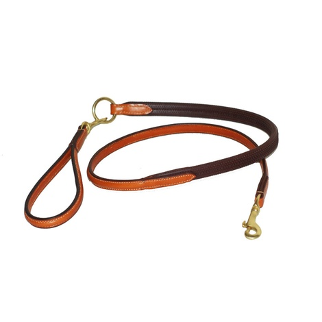 Rubber Grip Leather Dog Lead – London Tan