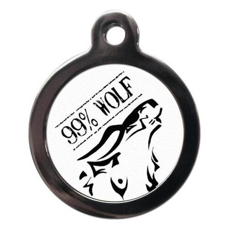 99% Wolf Pet ID Tag