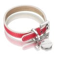 Saffiano Collar – Fuchsia Pink