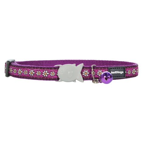 Daisy Chain Purple Cat Collar