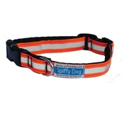 SpiffyDog - Hi-Viz Collar (Orange/White)