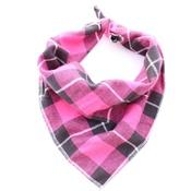 Pet Pooch Boutique - Pink Jersey Plaid Dog Bandana