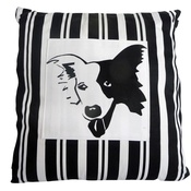 Tomato Catshop - Border Collie Striped Cushion