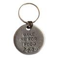 Wake Me For Food Slogan Dog ID Tag