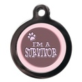 Girl I'm A Survivor Pet ID Tag