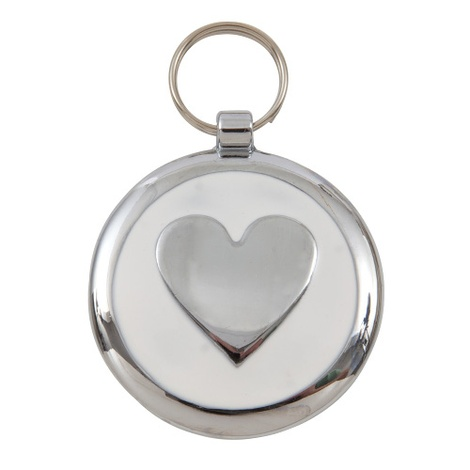 Smarties White Heart Pet ID Tag
