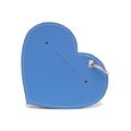 Leather Heart Poo Pouch – Botanical Blue 2
