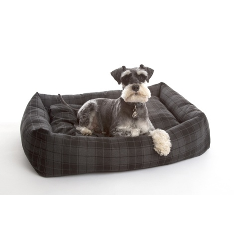 Highlander Grey Lounge Dog Bed