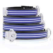 Cool Dog Club - Cool Dog K9 Striker MK2 Cabana Stripe Blue Dog Collar