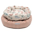 Flamingo Linen Donut Dog Bed 4