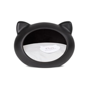GuisaPet - Black Cat Cave with Grey Cushion