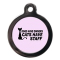 Cats Have Staff Cat Tag - Pink