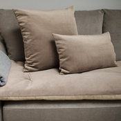 The Lounging Hound - Velvet Scatter Cushion - Taupe