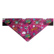 Zukie Style - Comic Pow Slogan Dog & Cat Bandana - Pink