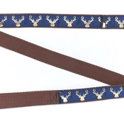Pet Pooch Boutique - Country Stag Navy Blue Lead