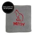 Personalised Cat Blanket - Light Grey