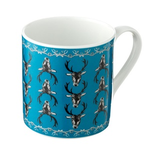 Stag Mug in Teal