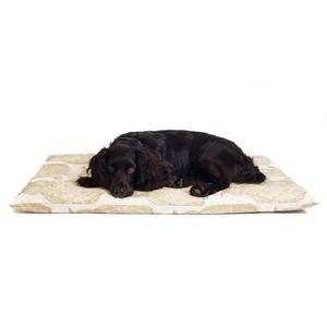 Owl Motif Dog Roll Bed - Cream