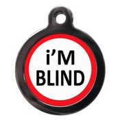 PS Pet Tags - I'm Blind Pet ID Tag