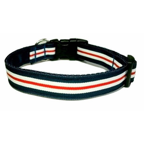 Nautical Stripe Dog Collar